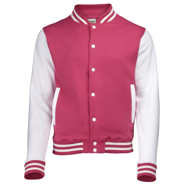 AWD's Just Hoods Varsity jacket Pink/White XL