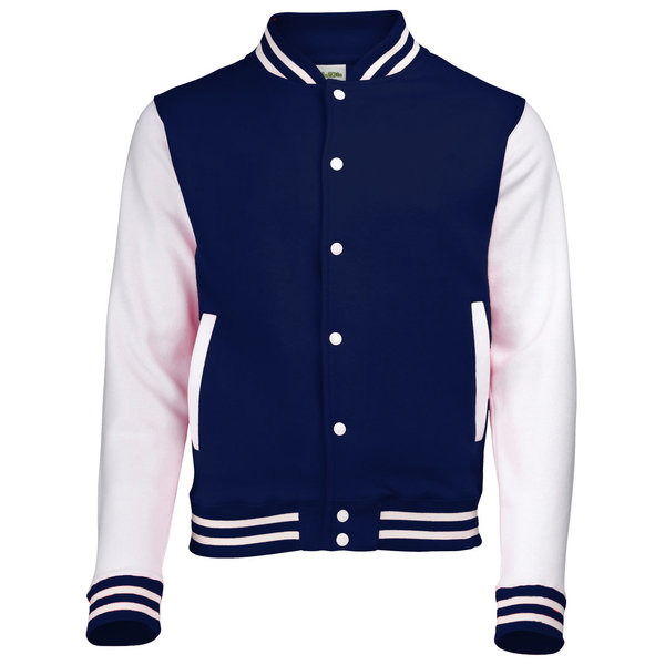 AWD's Just Hoods Varsity jacket Navy / White XL