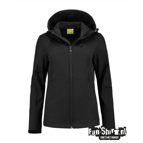 L&S Softshell Hooded Jacket for her L