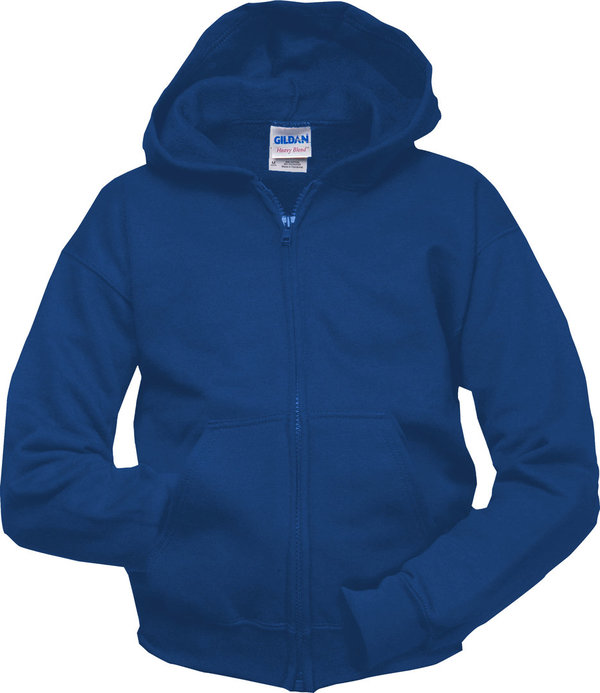 Gildan Heavyblend Full Zip Hooded Sweater for him ROYAL BLUE MAAT L